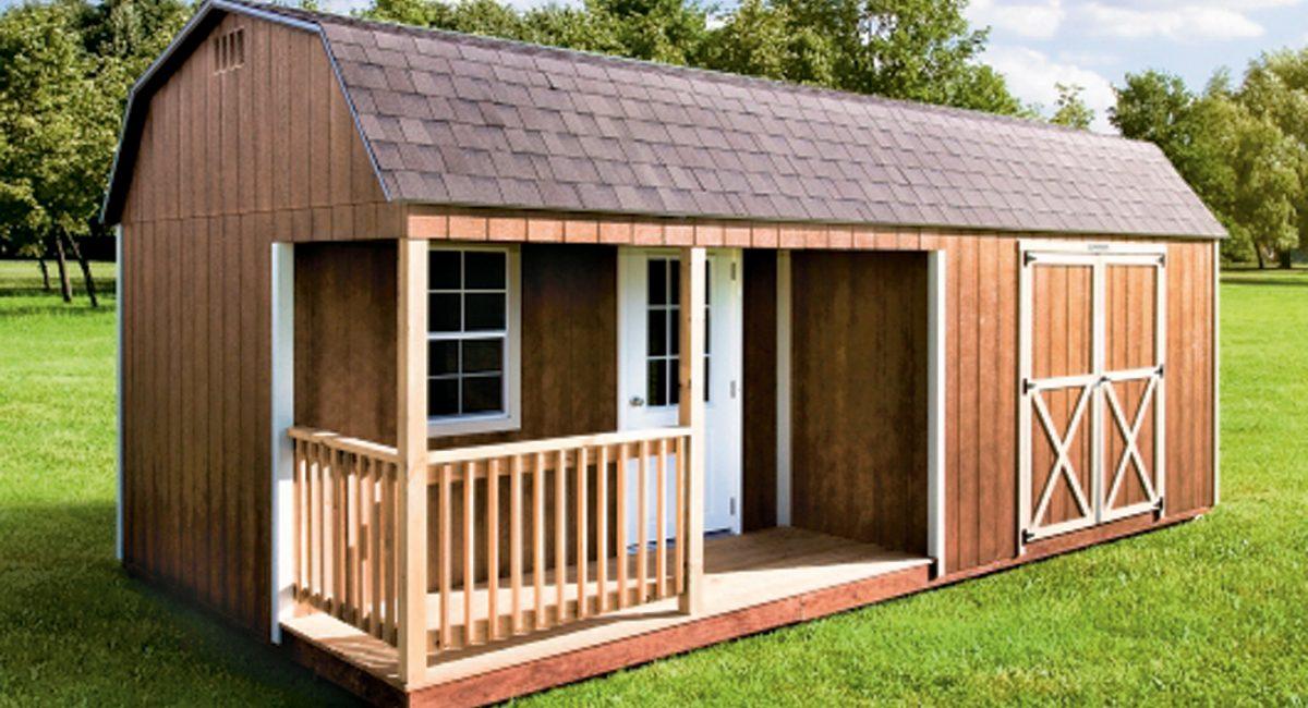 Corner Porch High Barn cabin south dakota