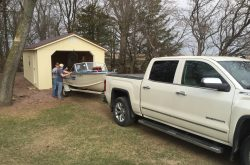 boat and motorcycle shed for sale