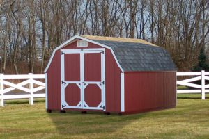 red low profile shed barn south dakota