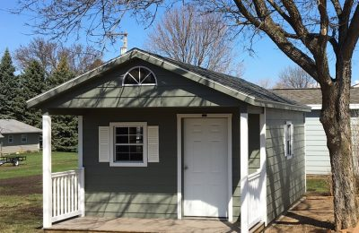 small storage building with porch for sale
