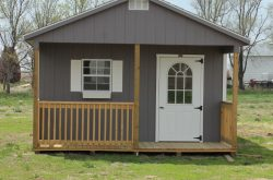 wooden storage buildings with porch in south dakota