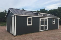 pretty pre built wood sheds for sale