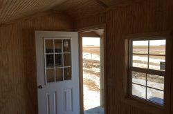 finished interior portable sheds for sale