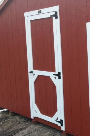 wooden shed single barn door