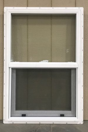 Insulated window for storage sheds