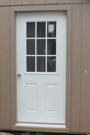 storage shed 9 lite door