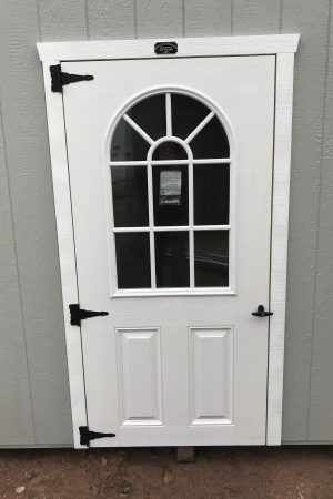storage shed fiberglass door with window