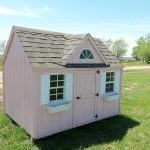 pink wooden small playhouses for children
